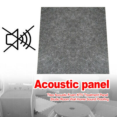 Home Tiles Acoustic Foam KTV Treatment Panel Studio Room Wall Sound Proofing