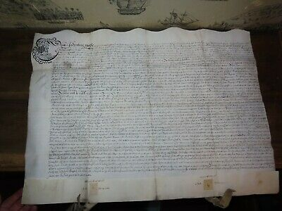 1661 VELLUM DOCUMENT from KING CHARLES III - HOWMAN of FILLONGLEY WARWICKSHIRE