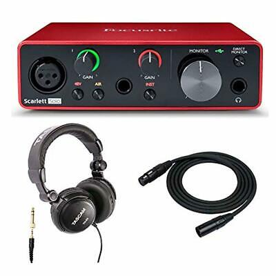 Scarlett Solo 3rd Gen USB Audio Interface Bundle with Headphones and X