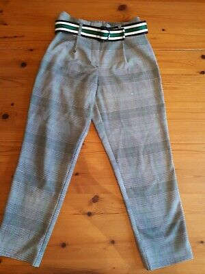 Girls River Island Checked Trousers Age 9 Years