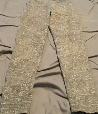 JUSTICE GIrl's Gray Leggings. Size 14  USA FREE SHIPPING