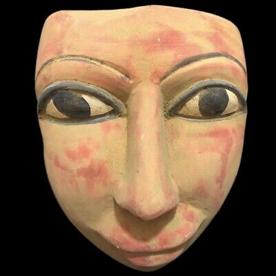 RARE ANCIENT EGYPTIAN MASK, LATE PERIOD 664 - 332 BC Large Over 1444 Kg