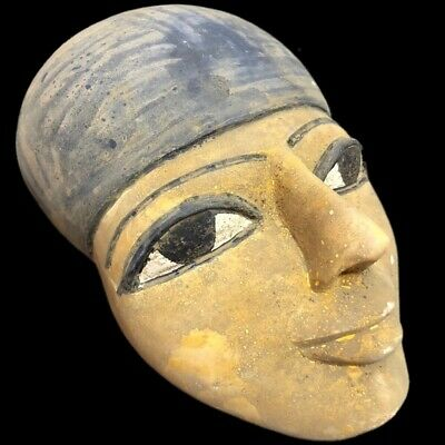 RARE ANCIENT EGYPTIAN MASK, LATE PERIOD 664 - 332 BC Large Over 1.7KG