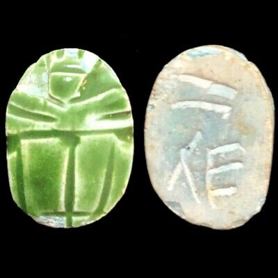 Beautiful Ancient Egyptian Blue Scarab 300 Bc (6)