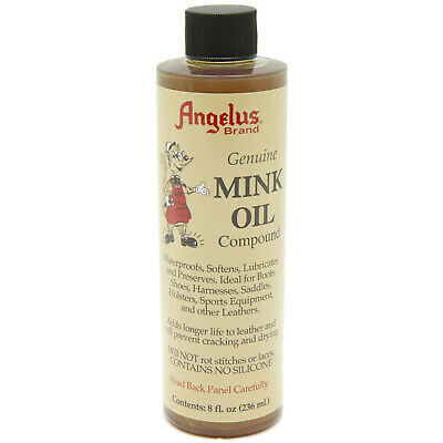 Angelus Brand Mink Oil Liquid for Leather Boots Shoes Jackets - 8oz