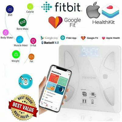 Smart Digital Bathroom Body Fat Weight Scale Bluetooth iOS Android Fitness APP
