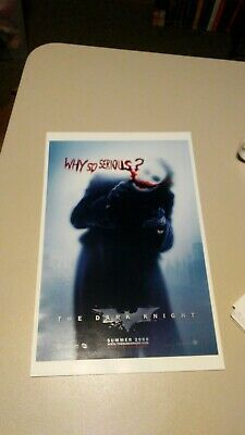 DARK KNIGHT - 2008 - Original D/S 27x40 Movie Poster - WHY SO SERIOUS?