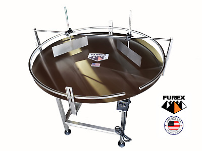 "Furex 60"" Dia. Stainless Steel Accumulating Rotary Table with Unscrambler Unit"