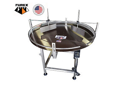"Furex 36"" Dia. Stainless Steel Accumulating Rotary Table with Unscrambler Unit"