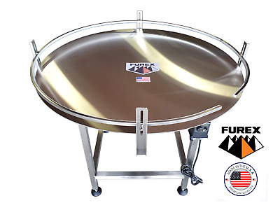 "Furex 48"" Dia. Stainless Steel Accumulating Rotary Table"