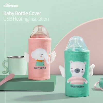 Portable Milk Bottle Warmer for Babies USB Charging Heating Thermo Bag Milk Warm