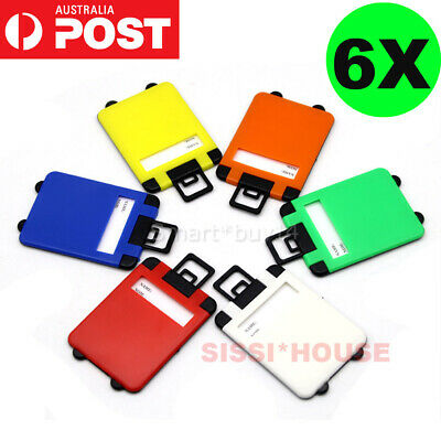 6 COLORS Travel Luggage Tag Baggage Suitcase Bag Identity Address Name Labels AU