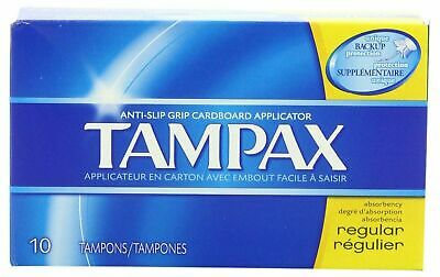 LOT OF 12 1 DOZEN Tampax Regular Size 10s