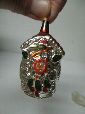 Vintage West Germany Glass Christmas Ornament - Cuckoo Clock