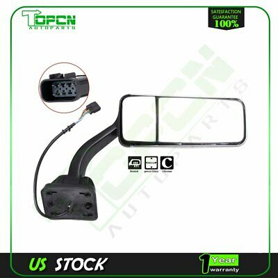 OTTOTEK Truck Chrome Right Side RH Door Mirror Fit For Freightliner Cascadia