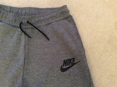 Boys Nike Dark Grey Skinny Track Suit Bottoms Age 13-15 Years - RRP £50 Good Con