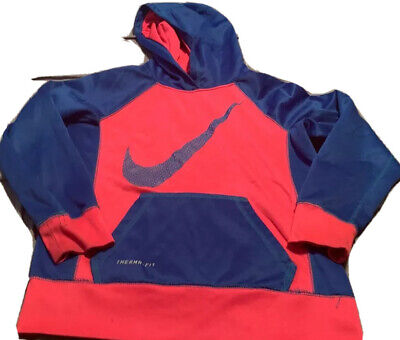 NIKE THERMA-FIT Girls  Pink & Blue Hoodie.  Size Medium  USA FREE SHIPPING