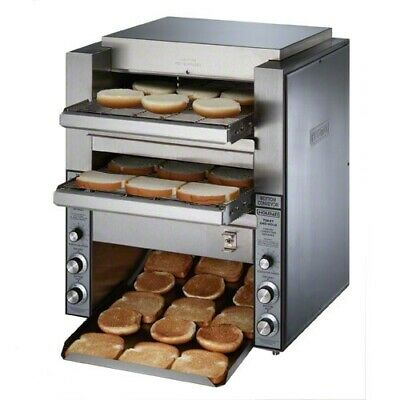 Star Dt14 Countertop Stainless Steel Commercial Double Conveyor Toaster