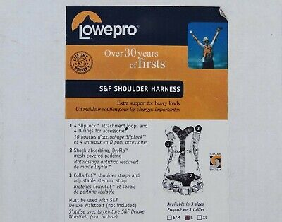 New Lowepro S&F Shoulder Harness (Large) - Top Quality Accessory!