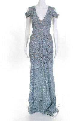 NEW BCBG MAX AZRIA FAE SLEEVELESS LACE-UP GOWN PXN68N66 SIZE 4 $298.00