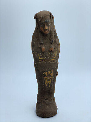 RARE EGYPTIAN ANTIQUES EGYPT STATUE KING Shabti Ushabti Mummy OLD STONE BCE