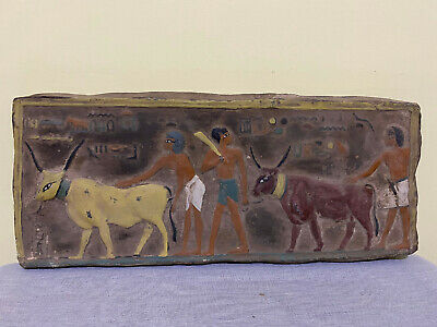RARE EGYPTIAN ANTIQUES EGYPT Wall STELA RELIEF (17x43.cm) Carved LIMESTONE BC