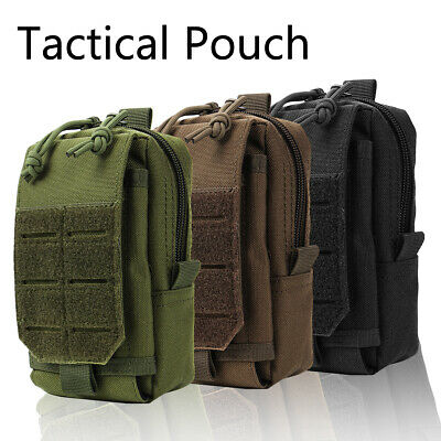 Waterproof Tactical Molle Pouch Belt Waist Fanny Pack Phone Bag Utility Pocket