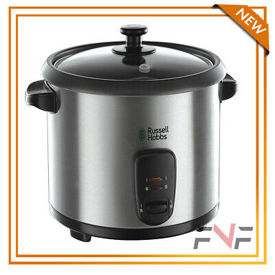 Russell Hobbs Electric Non-Stick Rice Steam Cooker Stainless Steel 1.8L Silver