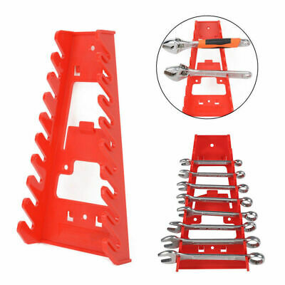 9 Slots Spanner Rack Wrench Holder Storage Rail Tray Wrench Organizer Tools
