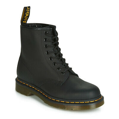 ANFIBIO UOMO UNISEX DONNA Dr MARTENS 1460 STIVALETTO ICONS AIR WAIR GREASY BLACK