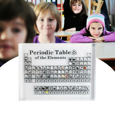 Chemical Teaching Tool Periodic Acrylic Table Display of Elements Table Elements