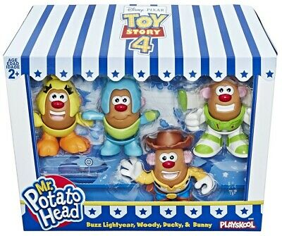 Toy Story 4 Mr. Potato Mini Head Pack Buzz, Woody, Ducky, Bunny Figure NEW