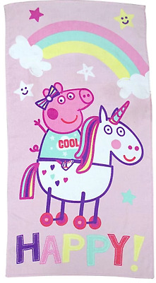 Peppa Pig Unicorn Pink Towel Girls NEW