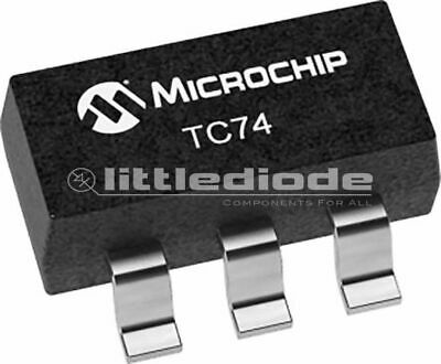 Temperatursensor 125 °C 40 †' Microchip Technology TC74A2-5.0VAT Digital