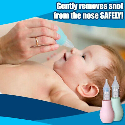Nasal Aspirator Nose Snot Sucker Mucus Booger Suction Baby Nostril Cleaner Safe