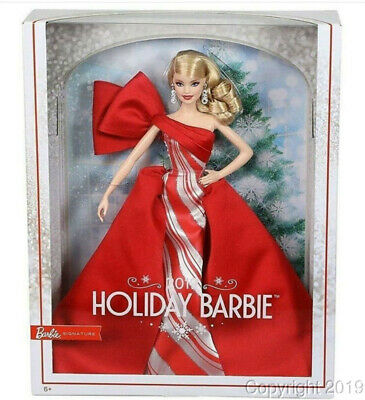 2019 HOLIDAY Blonde Barbie Doll FXF01 IN STOCK NOW!