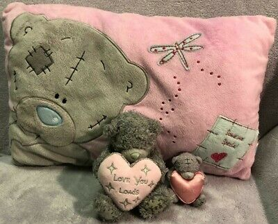 Me to You Tatty Teddy Bear Pillow Valentines Day and 2 soft plush Teddies