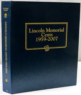 New Whitman OFFICIAL CLASSIC LINCOLN MEMORIAL 1959 TO 2007 PENNY Coin Album#9141