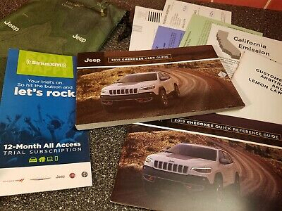 ☆☆☆ 2019 Jeep Cherokee Owners Manual Users Guide Laredo Sport ☆☆