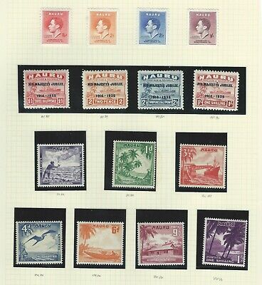 Nauru - Mm & Nhm Collection On 3 Album Pages