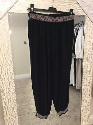 Girls River Island Trousers Black Cotton Blend Casual Trouser Age 12 Yrs Used