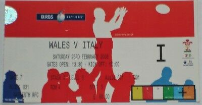 Wales Italy Rugby Union Ticket 2008
