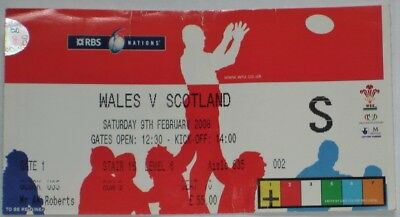 Wales Scotland Rugby Union Ticket 2008