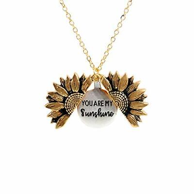 sloong You are My Sunshine Engraved Necklace for Mom Sunflower A Sunflower