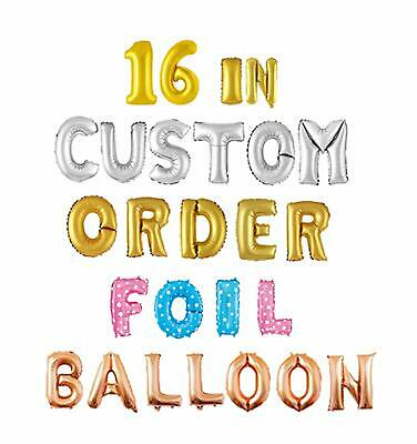 16 inch/35 cm Gold Silver Rose Gold Letters/Numbers Foil Balloon