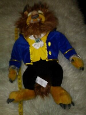 NEW Disney Parks Authentic BEAST Large Plush Toy Doll Beauty and The Beast NWOT
