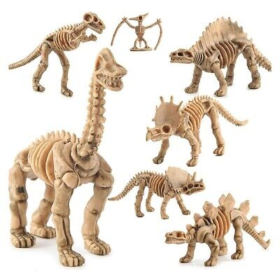 TH/_ CW/_ KQ/_ 12pcs Dinosaur Jurassic Bones Skeleton Figures Kid Toy Assorted Dino