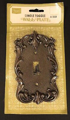 Vintage Sears Brass Gold Single Toggle Wall Plate Light Switch Cover 5533 NEW