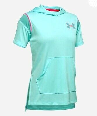 New Under Armour Girls Short Sleeve Hoodie Size Large MSRP $35.00