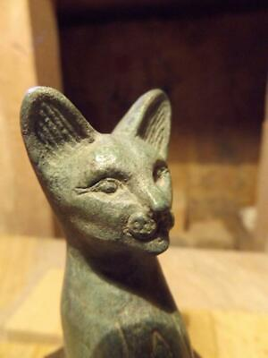 Egyptian cat statue of Bast / Bastet - A Goddess of music , dance , joy, hunting